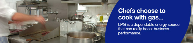 Commercial cooking with LPG gas